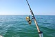 Mecklenburgische Ostsee Fishing rods on the boat<br /> Recreational fishing / angling equipment Michael Müller